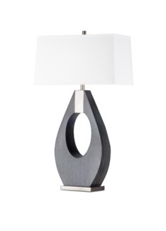 Pearson Table Lamp Charcoal Gray