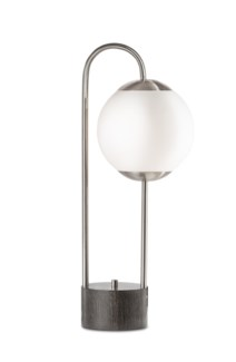 Globus Table Lamp Brushed Nickel