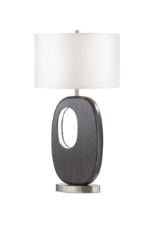 Offset Standing Table Lamp Charcoal Gray