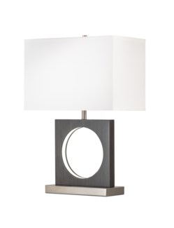 Cutter Table Lamp Charcoal Gray