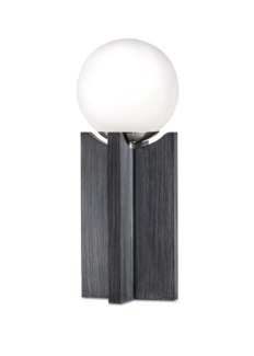 Clutch Accent Table Lamp Charcoal Gray