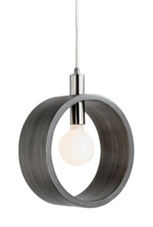 Tracey Ring Pendant Charcoal Gray