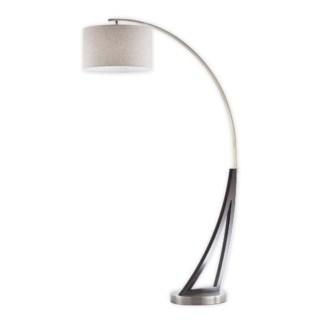 Swan Arc Lamp Weathered Brass