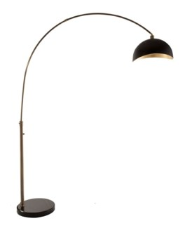 Luna Bella Arc Lamp Weathered Brass