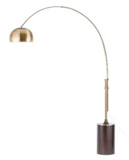 Contour Arc Lamp Weathered Brass