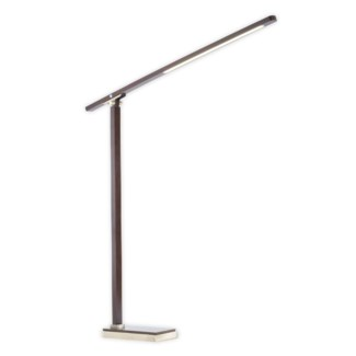 Jackknife Arc Lamp Pecan