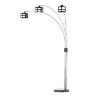 Ventana Three Light Arc Lamp Charcoal Gray
