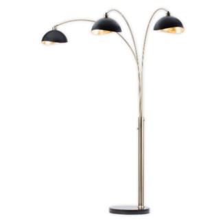 Luna Bella Three Light Arc Lamp Weathered Brass