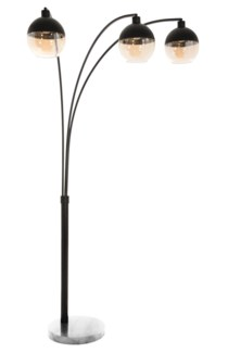 Orson Three light Arc Lamp Matte Black