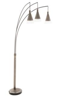 Willow Three Light Arc Lamp Antique Nickel