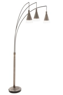 Willow Three Light Arc Lamp Antique Nickel
