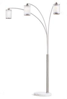 Flora Three Light Arc Lamp Weathered Brass