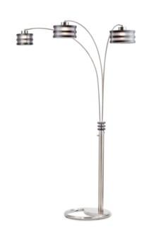 Kobe Three Light Arc Lamp Charcoal Gray