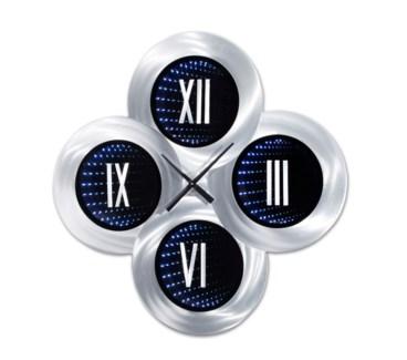 Roman Holiday Infinity Wall Clock Silver