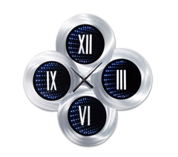 Roman Holiday Infinity Wall Clock Silver