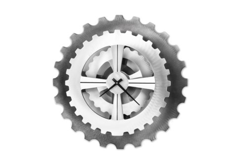Cog Wall Clock Silver