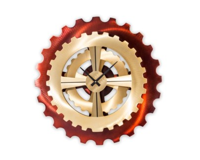 Cog Wall Clock Bronze