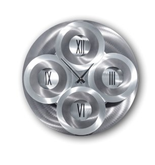 Moving Dial Wall Clock Charcoal