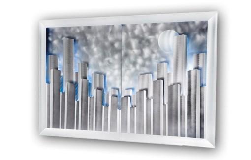 City Lights Wall Art Charcoal