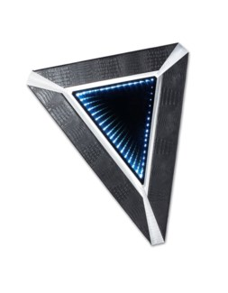 Croc Triangular Infinity Wall Mirror Silver