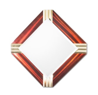 Pleat Square Wall Mirror Rootbear