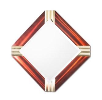 Pleat Square Wall Mirror Rootbear