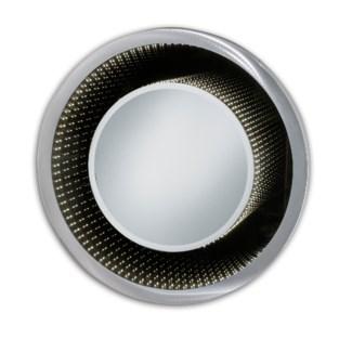 Vanishing Infinity Mirror Round Silver