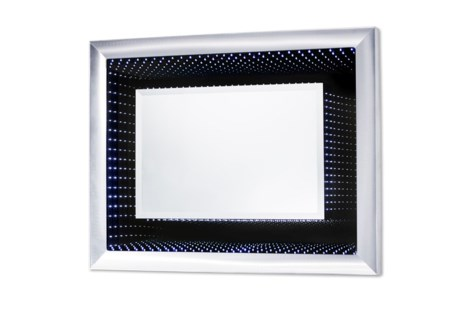 Vanishing Infinity Mirror Rectangular Silver