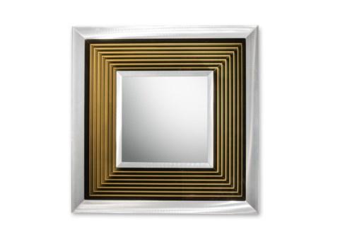 Epoch Multi-Color Infinity Mirror Square Silver