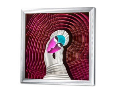 Eloise Multi-Color Infinity Wall Art Square Silver