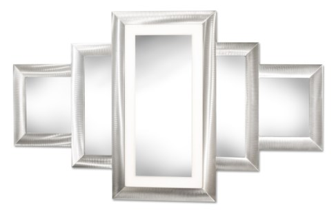 Scala Multi-Color Illuminated Mirror Rectangular Silver