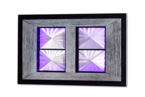 Pyramid Multi-Color Wall Art Rectangular Silver