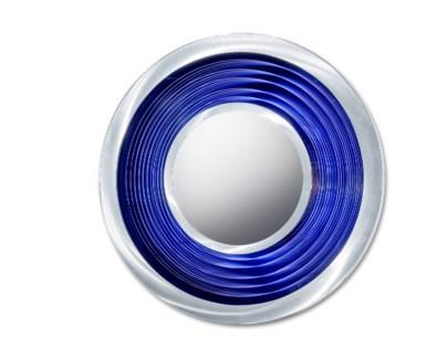 Interval Multi-Color Infinity Mirror Round Silver