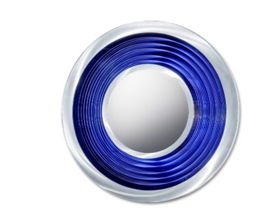 Interval Multi-Color Infinity Mirror Round Silver