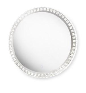 Marilyn Illuminated Mirror Round Chrome