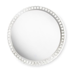 Marilyn Illuminated Mirror Round Chrome