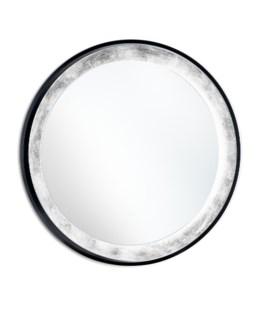 Harvest Moon Illuminated Mirror Round Silver Leaf
