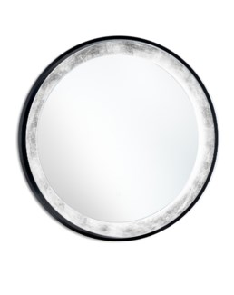 Harvest Moon Illuminated Mirror Round Silver Leaf