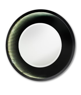Magic LED Infinity Mirror Round Medium Gloss black