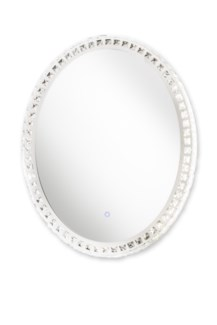 Marilyn Illuminated Mirror Oval Chrome