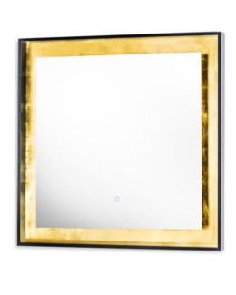 Harvest Moon Illuminated Mirror Square Gold Leaf