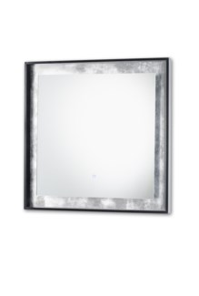 Harvest Moon Illuminated Mirror Square Silver Leaf