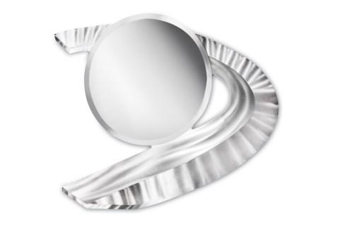 Boomerang Wall Mirror Silver