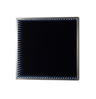 Divine Infinity Wall Mirror Square Silver