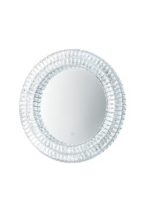 Royal Illuminated Wall Mirror Round Chrome