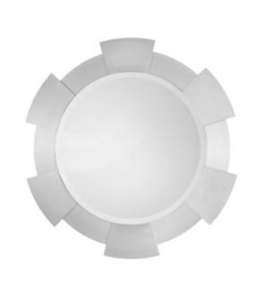 Port Hole Wall Mirror Silver