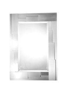 Terraced Wall Mirror Silver