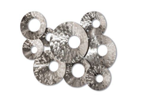 Droplets Wall Art Brushed Nickel