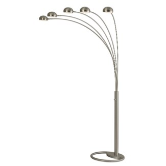 Mushroom 5 Light Arc Brushed Nickel