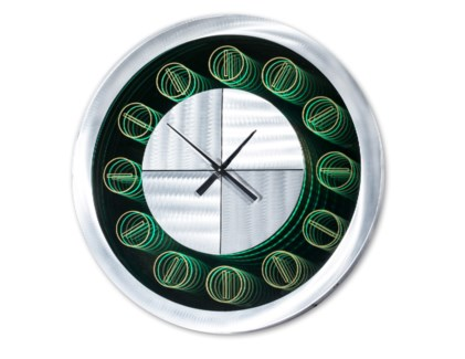 Tempo Multi-Color Infinity Clock Round Silver